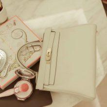 Hermès(爱马仕)Kelly 凯莉包 奶昔白 银扣 swift皮 25cm