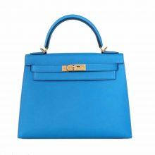 Hermès(爱马仕)Kelly 凯莉包 B3 坦桑尼亚蓝 epsom 金扣 28cm