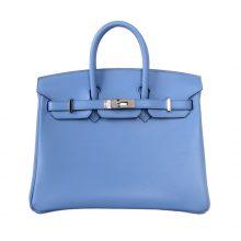 Hermès(爱马仕)Birkin 铂金包 天堂蓝 swift 银扣 25cm