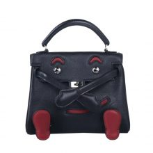 Hermès(爱马仕)kelly doll 娃娃包 黑色 swift 银扣