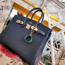 Hermès(爱马仕)Birkin 铂金包 黑色  togo 金扣 25cm