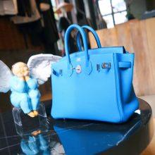 Hermès(爱马仕)Birkin 铂金包 坦桑尼亚蓝  togo 银扣 25cm