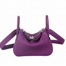 Hermès(爱马仕)mini Lindy 20 银扣 P9海葵紫 TC