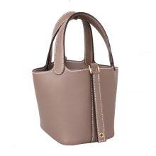 Hermès(爱马仕)mini Picotin 迷你菜篮包 大象灰 swift 银扣 14cm