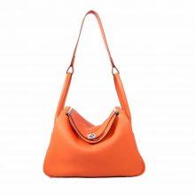 Hermès爱马仕 Lindy 30CM 银扣 CK93橙色(Orange) TOGO 手工 现货
