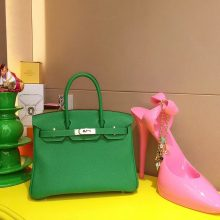 Hermès(爱马仕)Birkin 25CM 银扣 竹子绿TOGO 手工 神级 现货