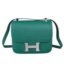 Hermès(爱马仕)孔雀绿 原厂御用顶级Epsom 皮 Constance 19