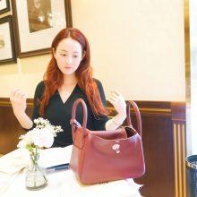 Hermès(爱马仕)Lindy琳迪包 爱马仕红 银扣 原版Swift皮 26cm