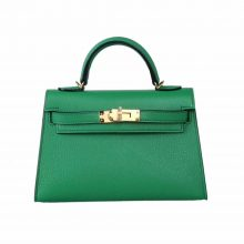 Hermès(爱马仕)mini Kelly迷你凯莉 1K竹子绿 山羊皮 2代 20cm