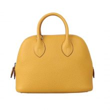 Hermès(爱马仕)Bolide保龄球包 琥珀黄 Togo
