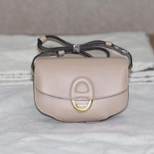Hermès(爱马仕)Cherche-MIDI挎包 米粉色 原版皮 金扣 18CM