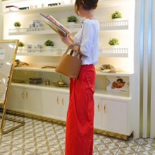 Hermès(爱马仕)Picotin菜篮包 驼色 编织手柄 epsom皮 银扣 18cm