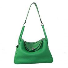 Hermès(爱马仕)lindy 30银 竹子绿 Togo