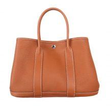 Hermès(爱马仕)花园包 金棕色 epsom皮 Togo 银扣 30CM