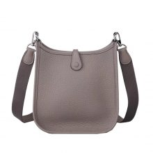 Hermès(爱马仕)mini evelyne 沥青灰 银扣 togo 17cm
