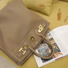 Hermès(爱马仕)HAC 40 大象灰 银扣 togo
