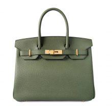 Hermès(爱马仕)Birkin铂金包 金扣 丛林绿 Togo 30cm
