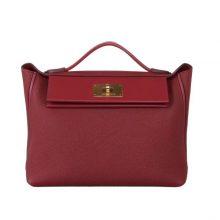 Hermès(爱马仕)Kelly2424 酒红 togo 金扣 29cm