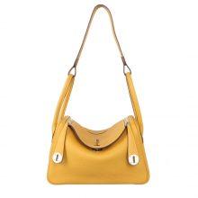 Hermès(爱马仕)lindy 琳迪包 琥珀黄 Togo 银扣 30cm