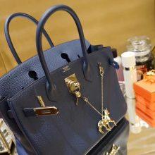 Hermès(爱马仕)Birkin 铂金包 鸭子蓝  togo 金扣 30cm