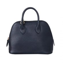 Hermès(爱马仕)mini Bolide 保龄球包 17 金扣  黑色  山羊皮