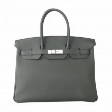 Hermès(爱马仕)Birkin 铂金包 丛林绿 togo 银扣 35cm