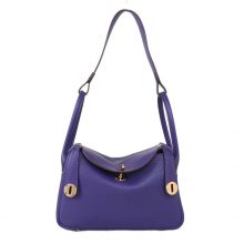 Hermès(爱马仕)Lindy 26CM 金扣 葡萄紫  togo