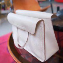 Hermès(爱马仕)halzan 31cm 奶昔白 togo