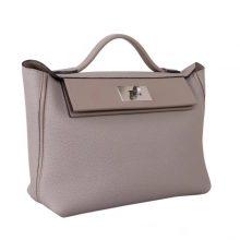 Hermès(爱马仕)Kelly 2424 CK81斑鸠灰 Togo 银扣 29cm