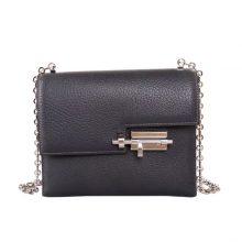 Hermès(爱马仕)Verrou 锁链包 锡器灰 山羊皮 银扣 17cm
