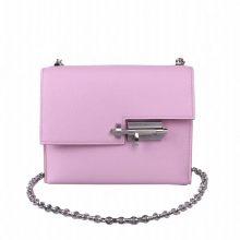 Hermès(爱马仕)Verrou 锁链包 X9锦葵紫 山羊皮 银扣 17cm