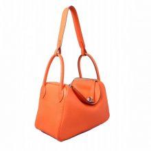 Hermès(爱马仕)Lindy 30 银扣 CK93橙 togo