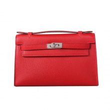Hermès(爱马仕)miniKelly 迷你凯莉 Q5中国红 epsom皮 1代 银扣 22cm