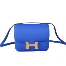 Hermès(爱马仕)Constance 空姐包 B3坦桑尼亚蓝 epsom皮 金扣 19cm