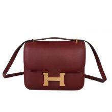 Hermès(爱马仕)Constance 空姐包 CK55爱马仕红 epsom皮 金扣 19cm