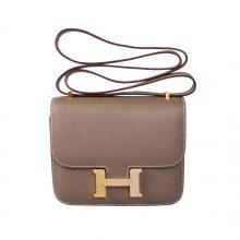 Hermès(爱马仕)Constance 空姐包 CK18大象灰 epsom皮 金扣 19cm