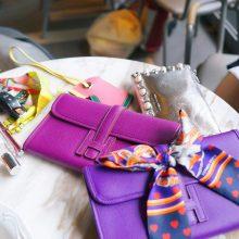 Hermès(爱马仕)JIGE 手包 22cm 梦幻紫 EPSOM皮