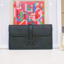 Hermès(爱马仕)JIGE 手包 22cm 黑色 EPSOM皮