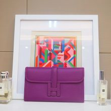 Hermès(爱马仕)JIGE 手包 22cm 海葵紫 EPSOM皮