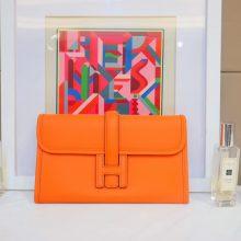 Hermès(爱马仕)JIGE 手包 22cm 橙色 EPSOM皮