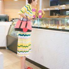 Hermès(爱马仕)garden party 花园包 30CM 黑色togo拼樱花粉帆布