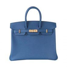 Hermès(爱马仕)Birkin 铂金包 珊瑚蓝 epsom皮 金扣 25cm