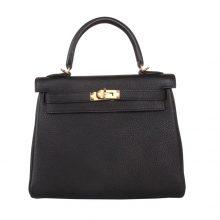 Hermès(爱马仕)Kelly  凯莉包 黑色 togo 金扣 25cm