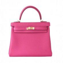 Hermès(爱马仕)Kelly  凯莉包 托斯卡紫 togo 金扣 25cm