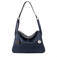 Hermès(爱马仕)lindy 琳迪包 鸭子蓝 Swift皮 金扣 30cm
