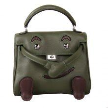 Hermès(爱马仕)kelly doll 娃娃包 丛林绿 swift皮 银扣 18cm