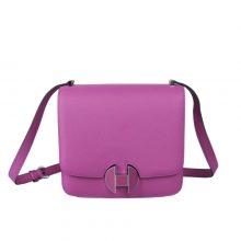 Hermès(爱马仕)hermes 2002 新款 20cm 玫瑰紫 珐琅扣银 EV