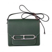 Hermès(爱马仕)roulis 猪鼻包 英国绿 EP皮 银扣 19cm