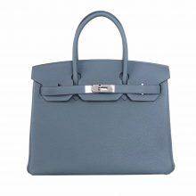 Hermès(爱马仕)Birkin 铂金包 杏仁绿 Togo 银扣 25cm