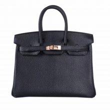 Hermès(爱马仕)Birkin 25cm 玫瑰金扣 黑色 山羊皮